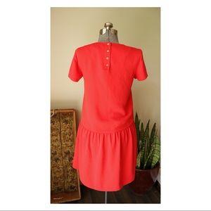 Cynthia Rowley Dresses - Cynthia Rowley Drop Waist Red Midi Dress